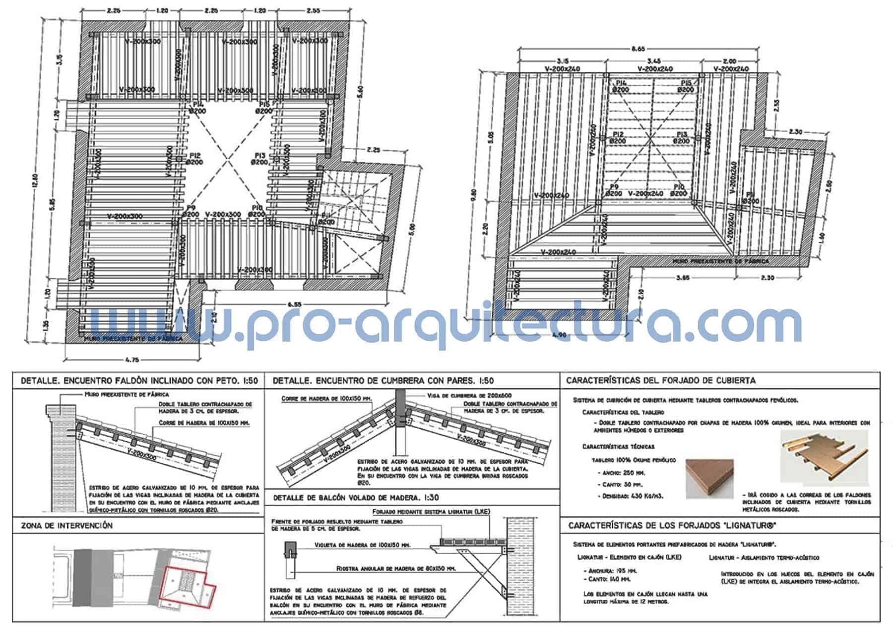 0002-05 Oficina de turismo - Rehabilitación - Planos de estructuras - Tu ayuda con la entrega de la estructura del pfc pfg tfg tfm de arquitectura. Estructura de madera.