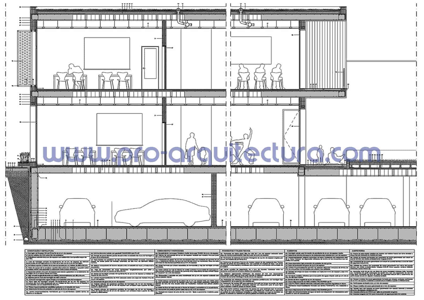 0009-02 Colegio de primaria - Sección y detalles constructivos - Ayuda con la entrega del pfc pfg tfg tfm de arquitectura.