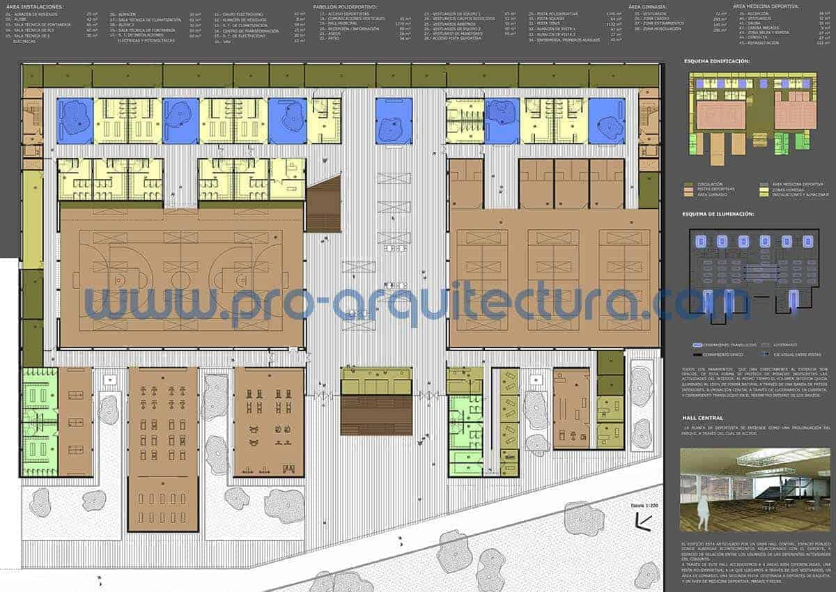 0011-05 Pabellón de deportes municipal - Proyecto Básico - Tu ayuda con la entrega del proyecto básico del pfc pfg tfg tfm de arquitectura.