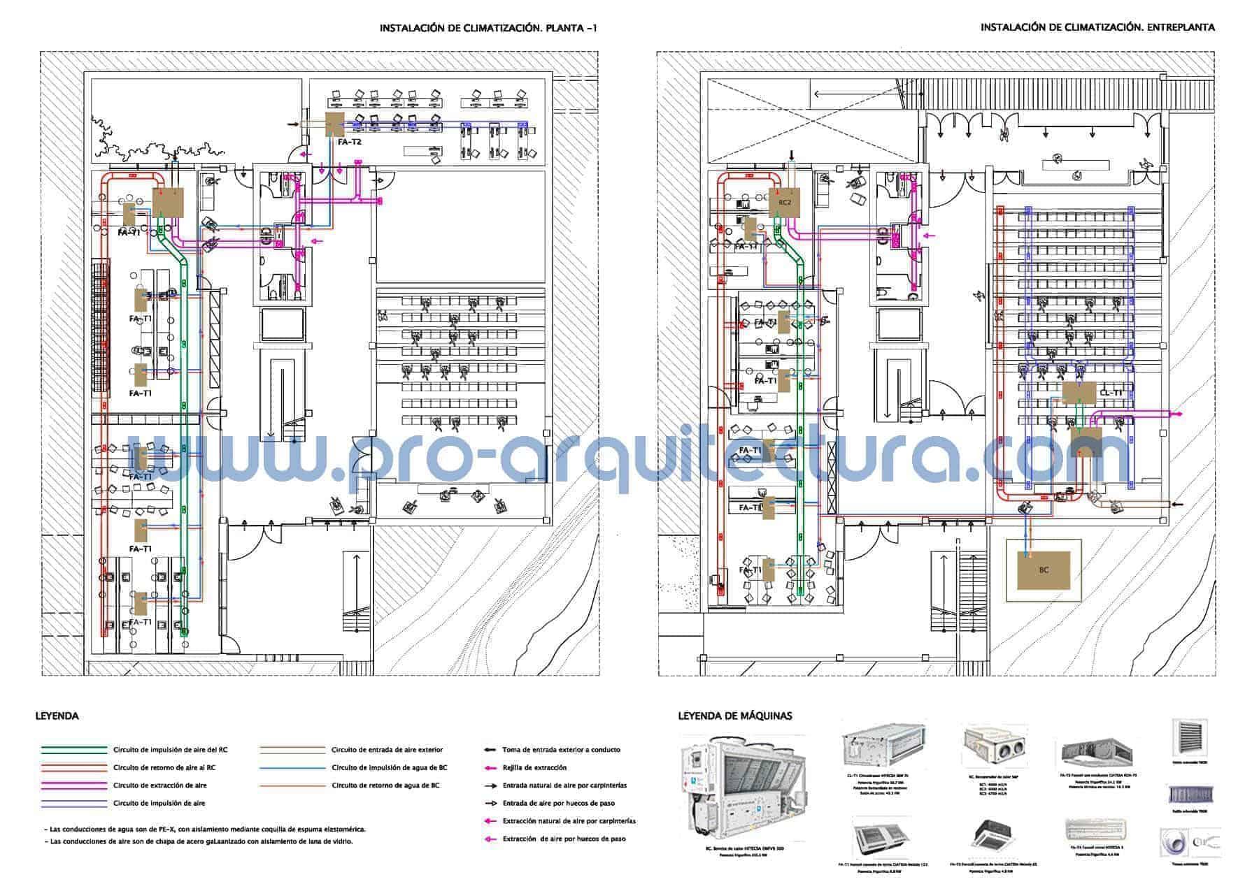 0022-02 Centro enológico-Museo del vino. Plano de instalación de climatización. Tu ayuda con la entrega del pfc pfg tfg tfm de arquitectura.