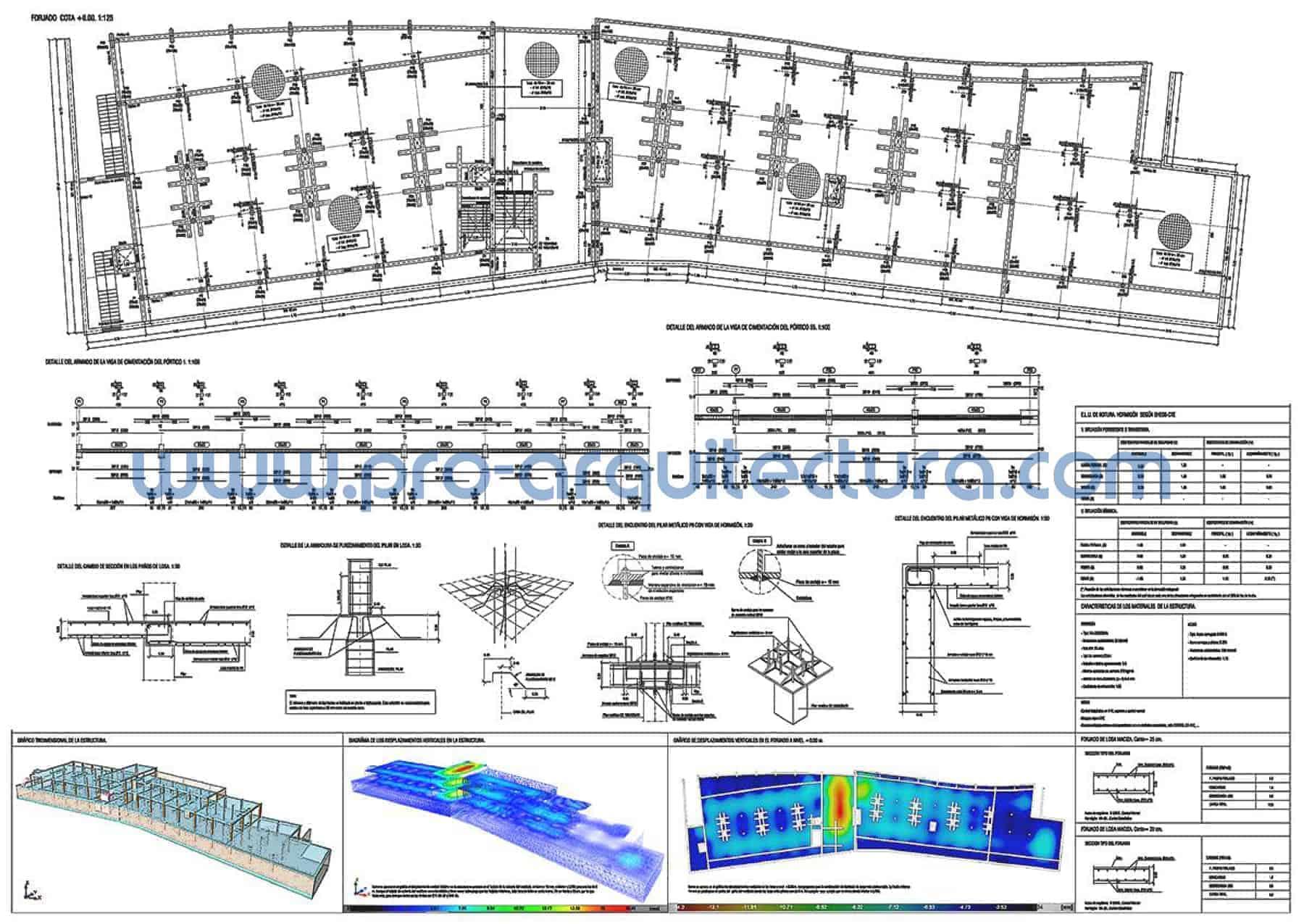 0035-02 Apartahotel - Planos de estructuras - Tu ayuda con la entrega de la estructura del pfc pfg tfg tfm de arquitectura.