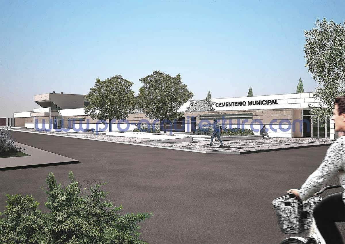 0038-13 Tanatorio y cementerio municipal - Proyecto Básico - Tu ayuda con la entrega del proyecto básico del pfc pfg tfg tfm de arquitectura.