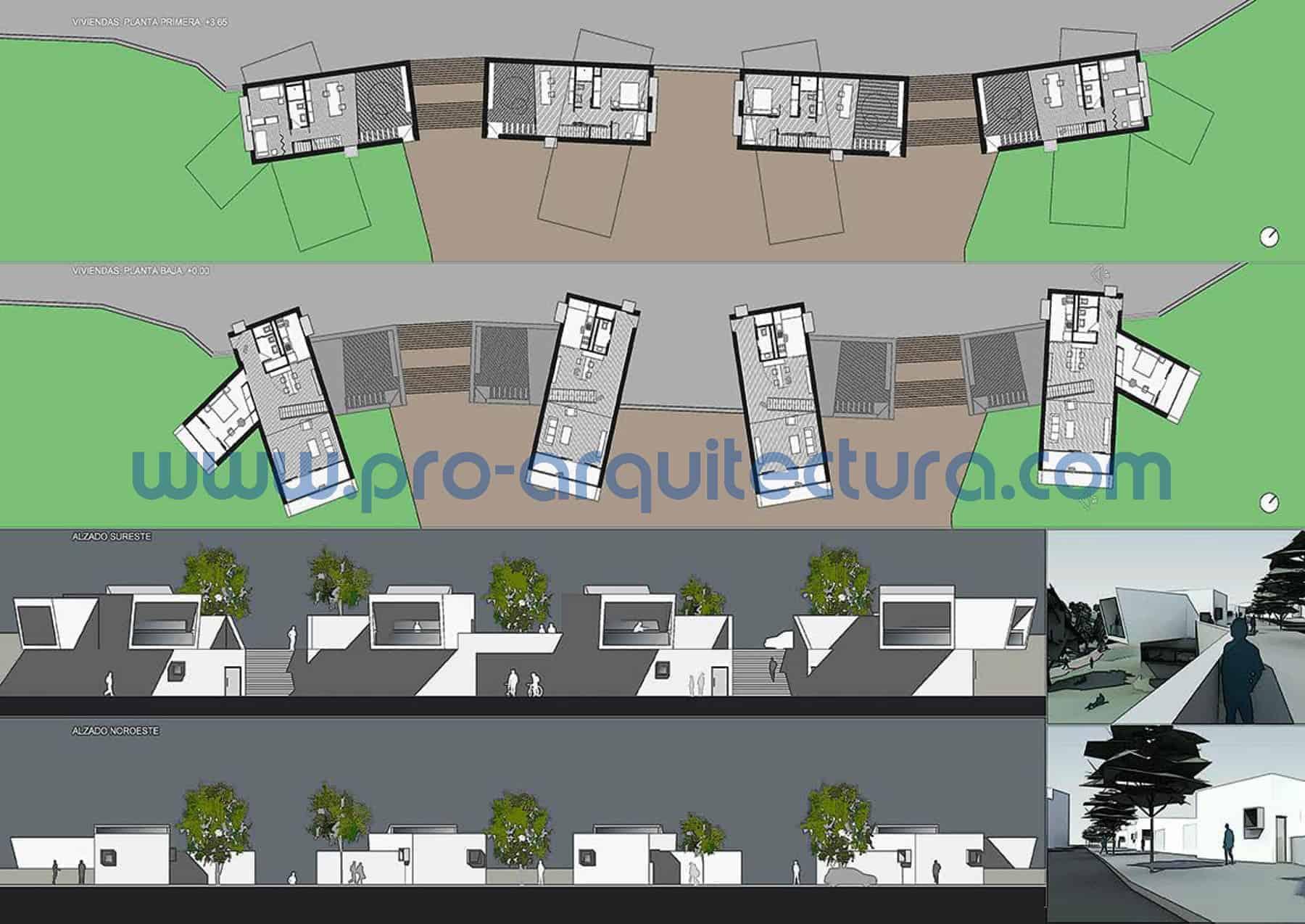 0039-02 Urbanización de viviendas unifamiliares - Proyecto Básico - Tu ayuda con la entrega proyecto básico del pfc pfg tfg tfm de arquitectura.