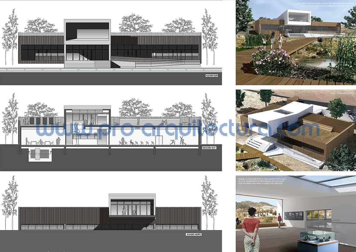 0041-06 Centro de interpretación de la naturaleza - Proyecto Básico. Tu ayuda con la entrega del proyecto básico del pfc pfg tfg tfm de arquitectura.