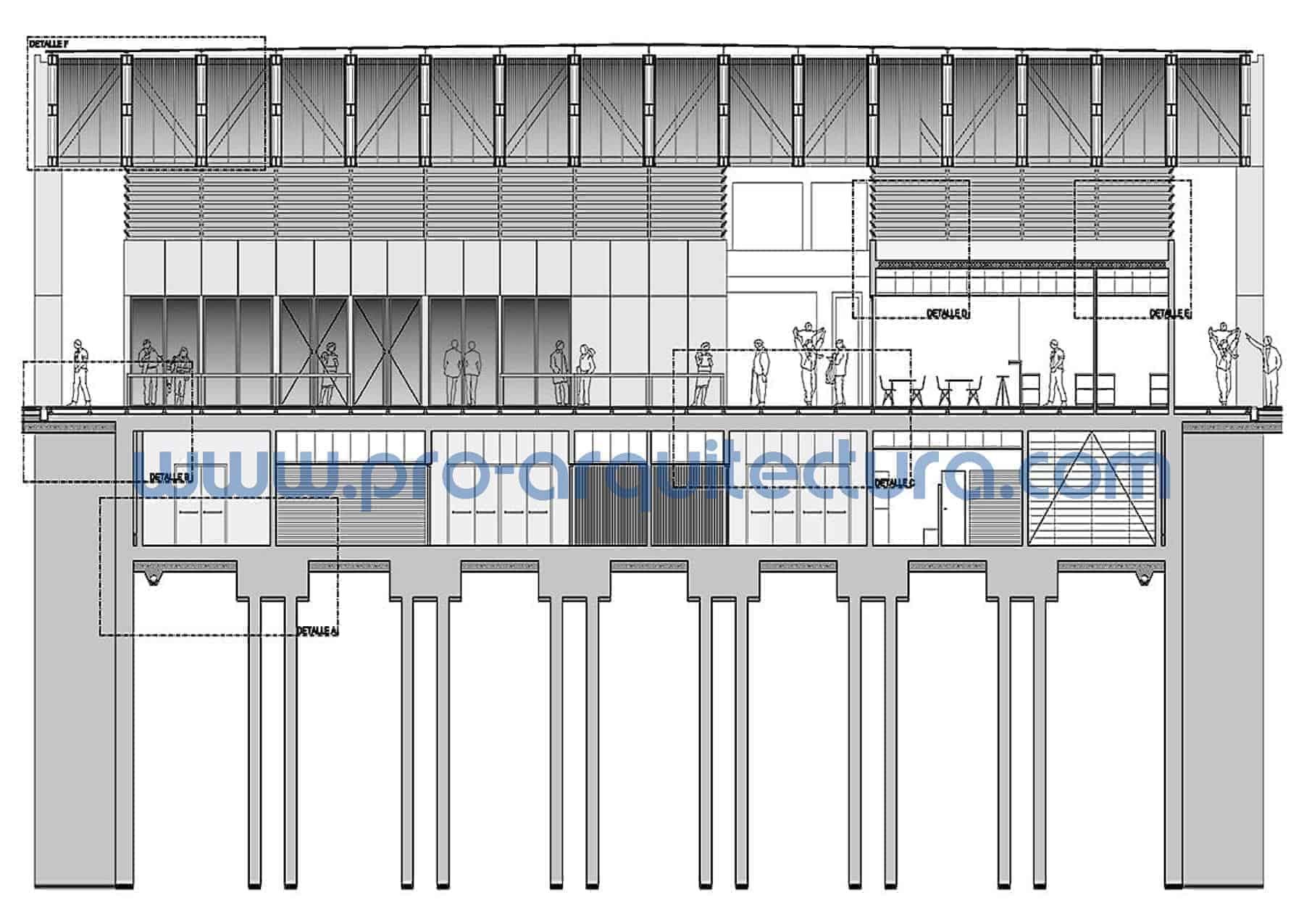 0044-01 Mercado municipal - Sección y detalles constructivos - Tu ayuda con la entrega del pfc pfg tfg tfm de arquitectura.