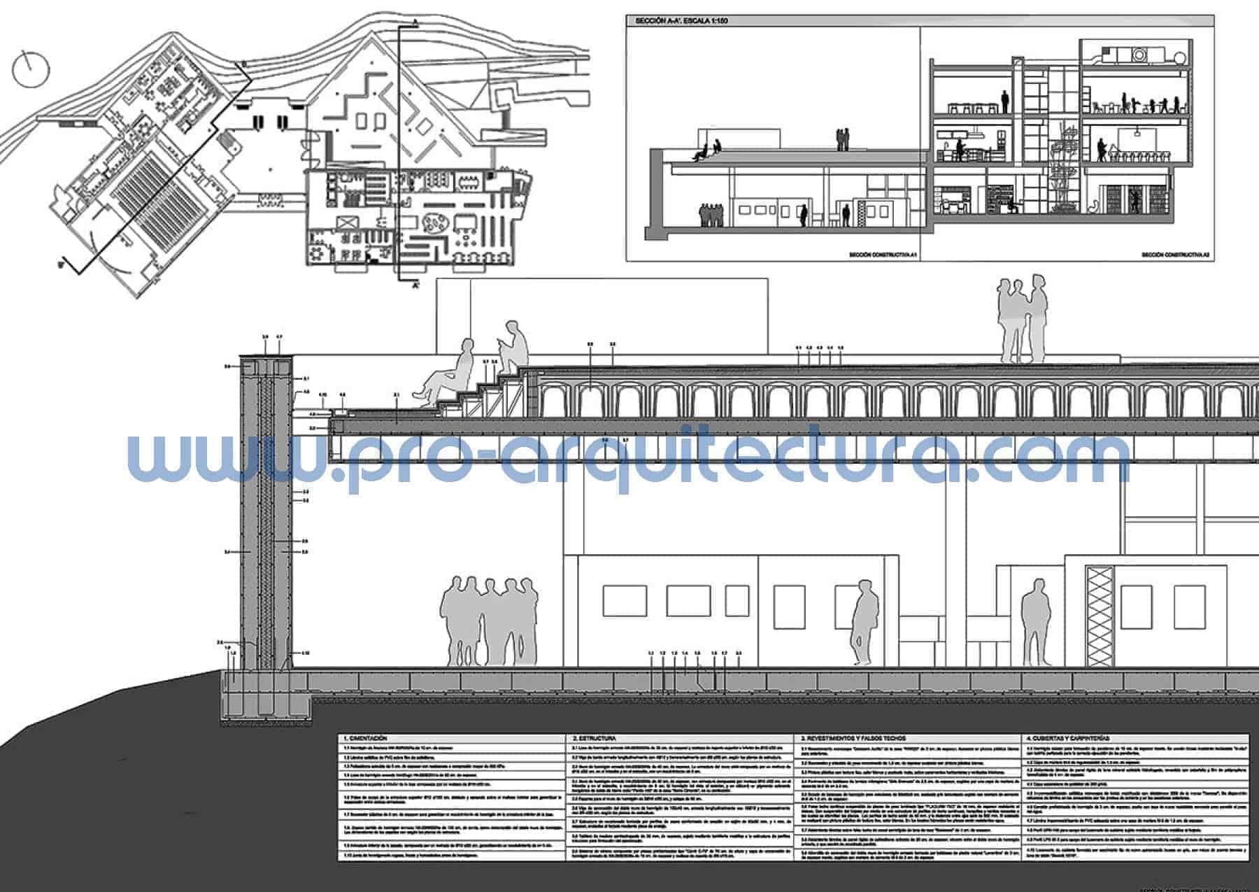 0045-01 Facultad de ciencias - Sección y detalles constructivos - Ayuda con la entrega del pfc pfg tfg tfm de arquitectura.