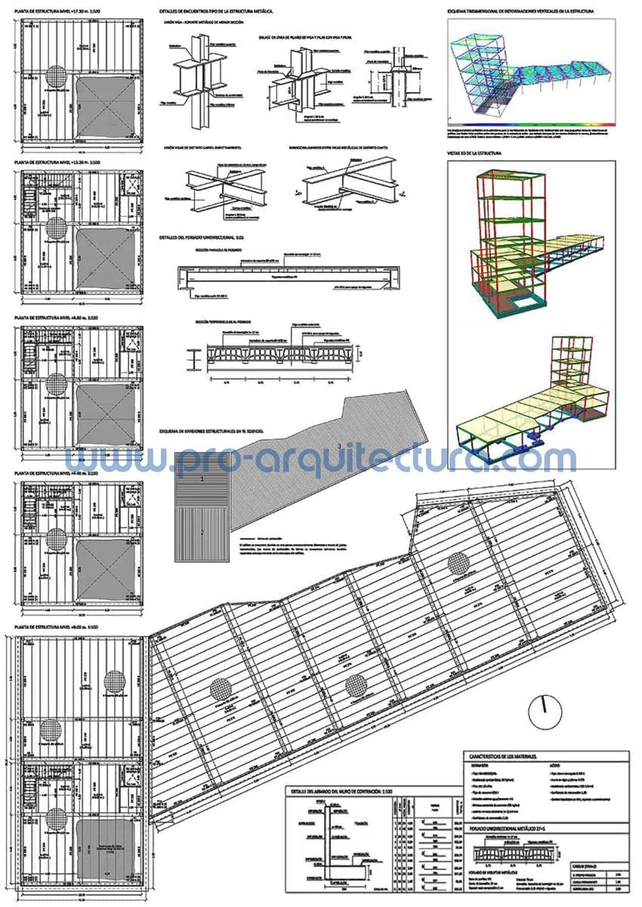 0049-04 Museo arqueológico - Planos de estructuras - Tu ayuda con la entrega de la estructura del pfc pfg tfg tfm de arquitectura.