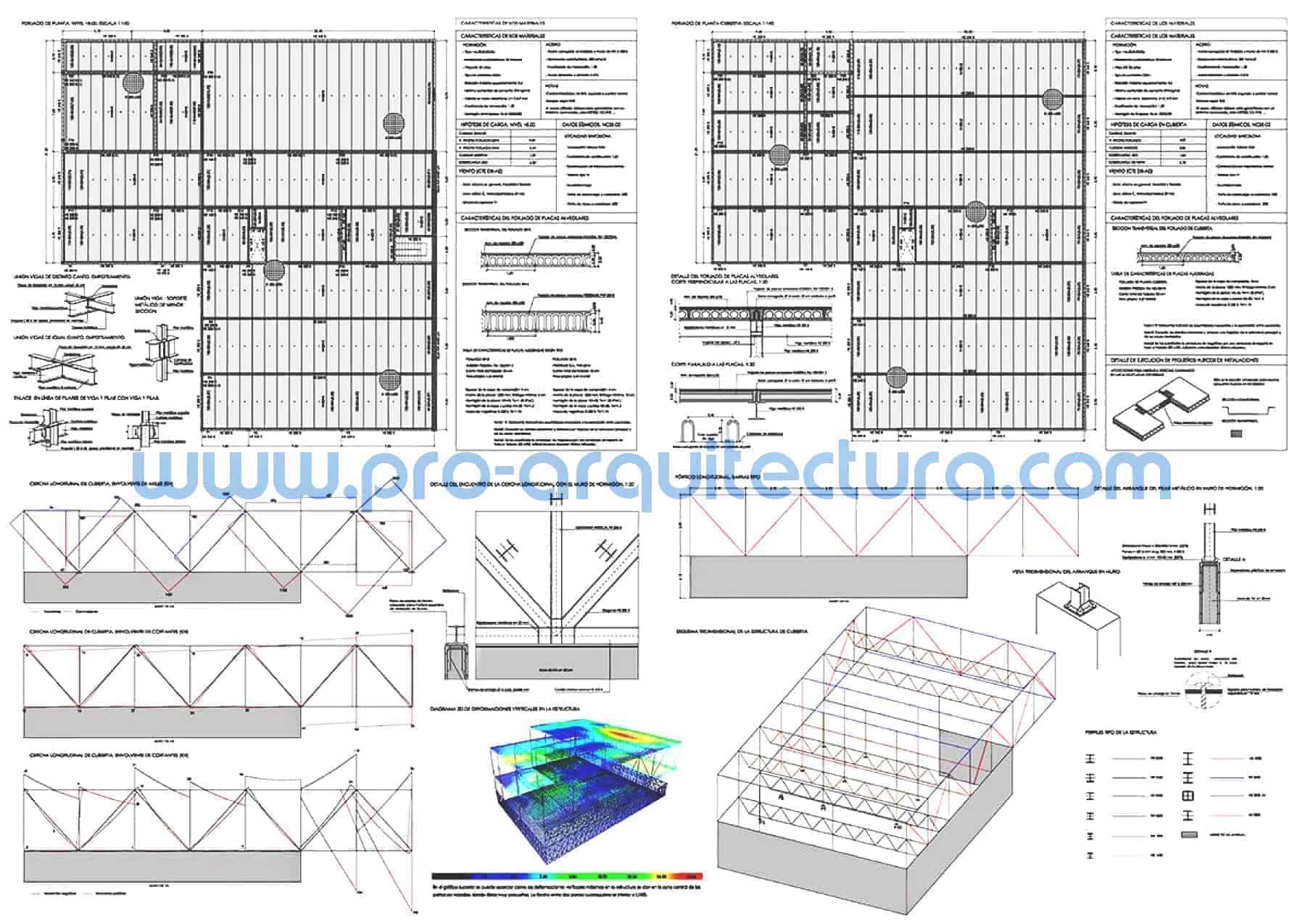 0051-08 Escuela de arte - Planos de estructuras - Tu ayuda con la entrega de la estructura del pfc pfg tfg tfm de arquitectura.