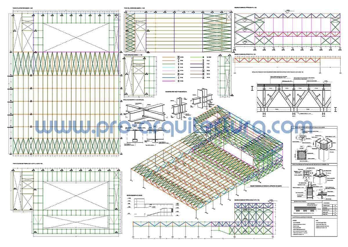 0054-03 Auditorio - Planos de estructuras - Tu ayuda con la entrega de la estructura del pfc pfg tfg tfm de arquitectura.