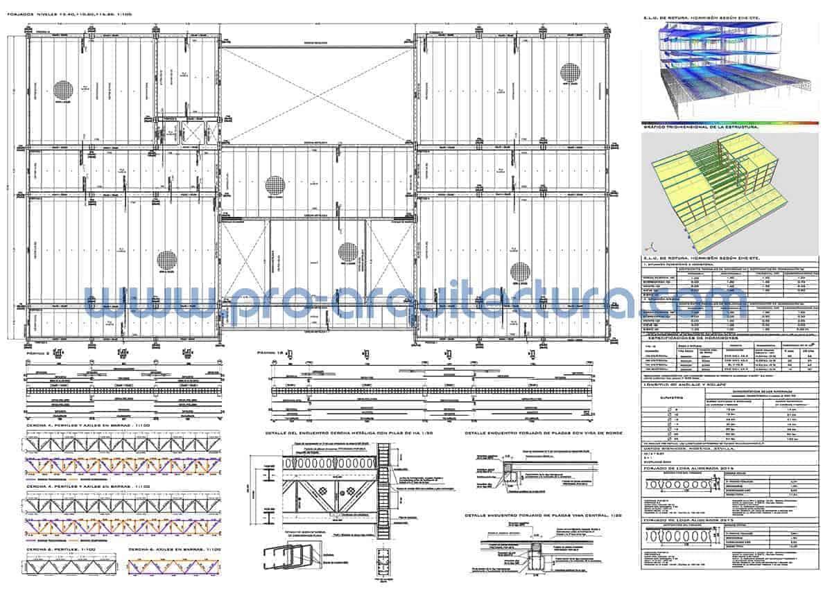 0055-02 Escuela de primaria - Planos de estructuras - Tu ayuda con la entrega de la estructura del pfc pfg tfg tfm de arquitectura.