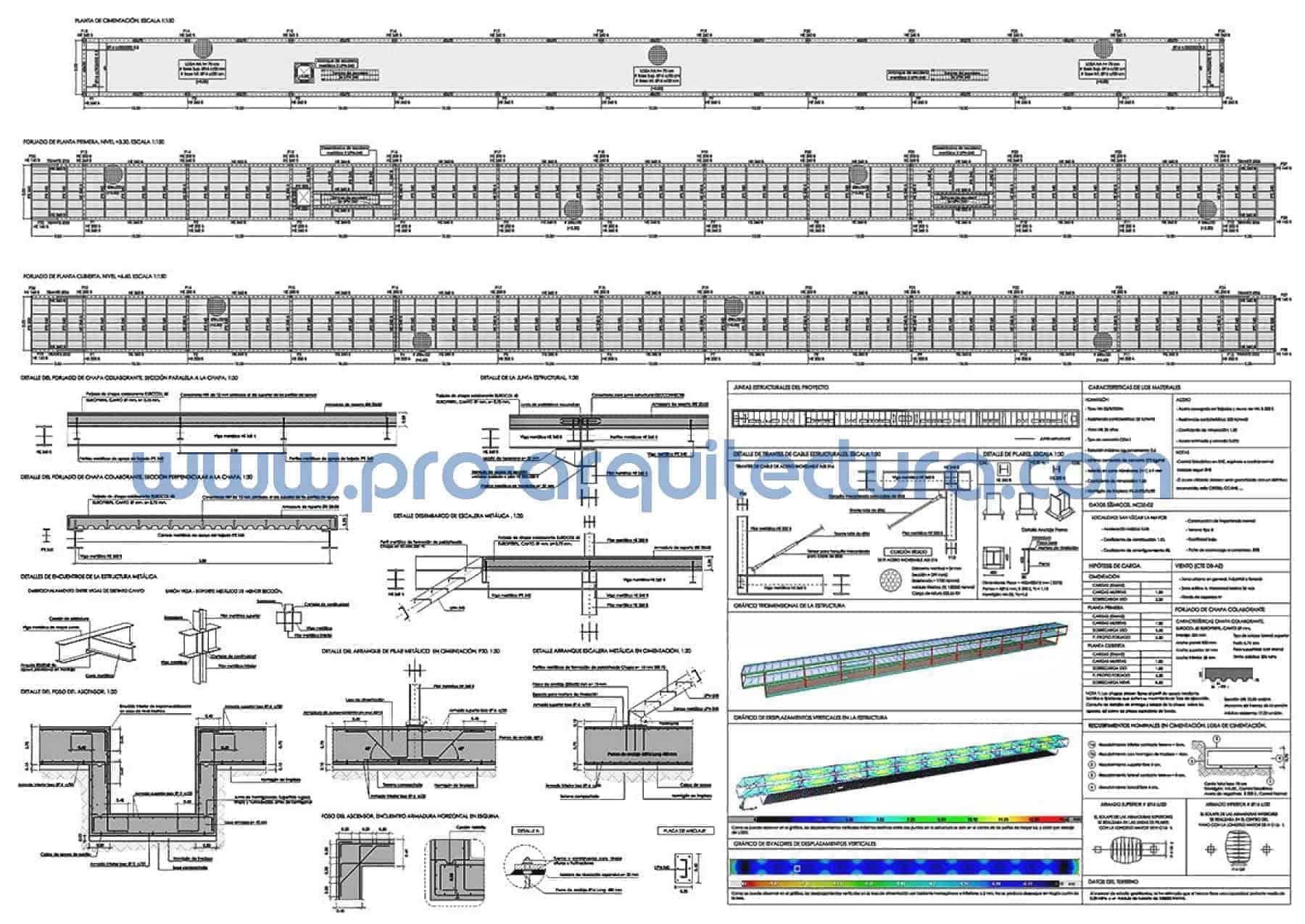 0056-01 Laboratorio farmacéutico - Planos de estructuras - Tu ayuda con el cálculo de la estructura del pfc pfg tfg tfm de arquitectura