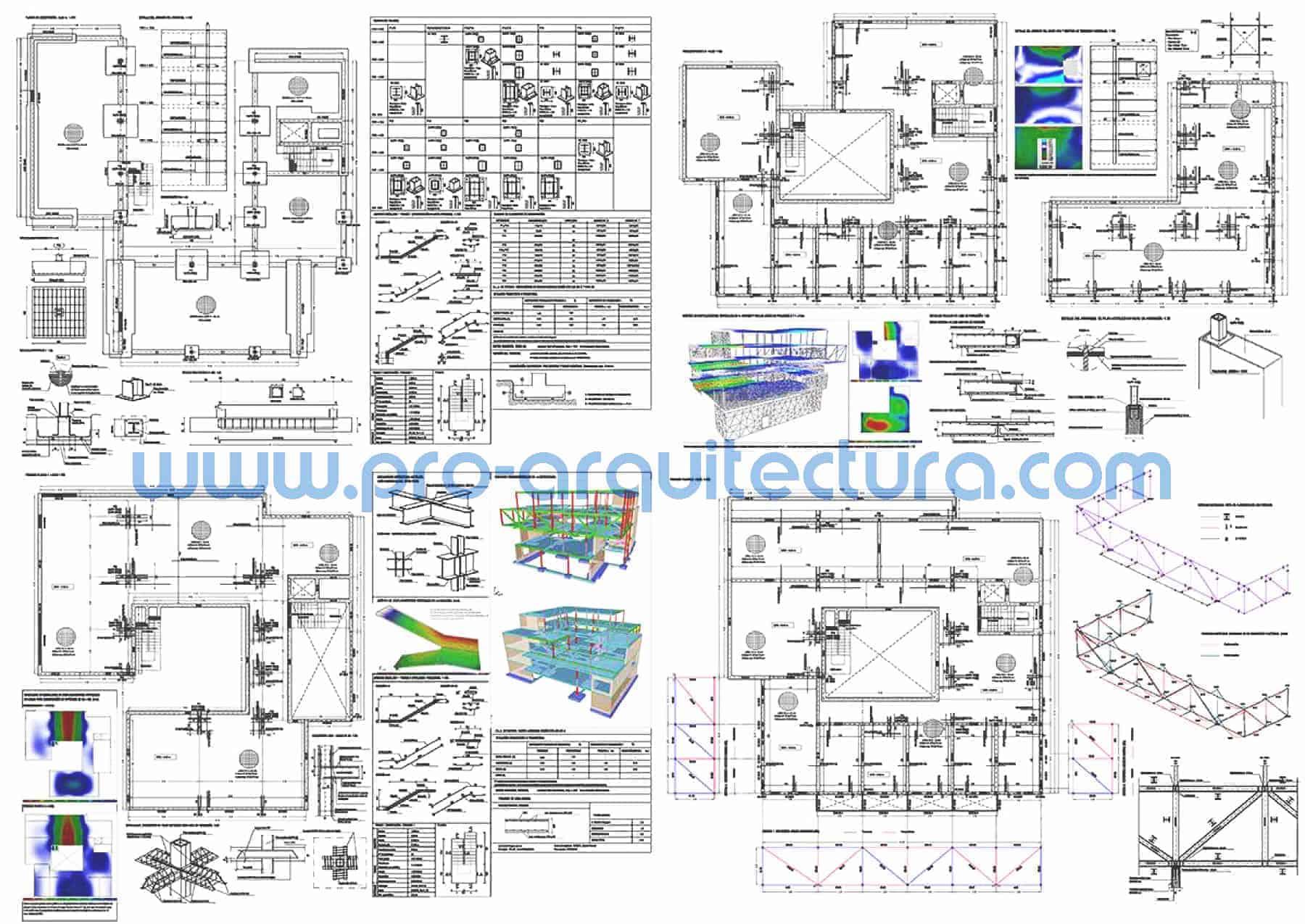 0058-01 Instituto de secundaria - Planos de estructuras - Tu ayuda con la entrega de la estructura del pfc pfg tfg tfm de arquitectura.