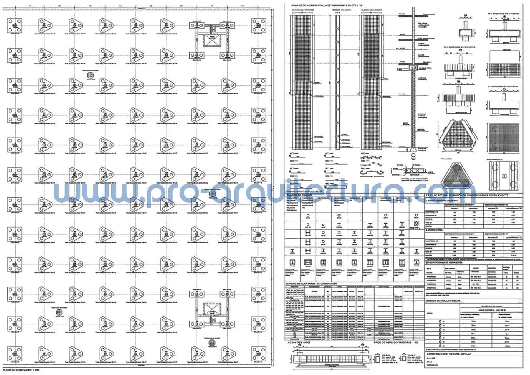 0063-01 Edificio de uso docente - Planos de estructuras - Tu ayuda con la entrega de la estructura del pfc pfg tfg tfm de arquitectura.
