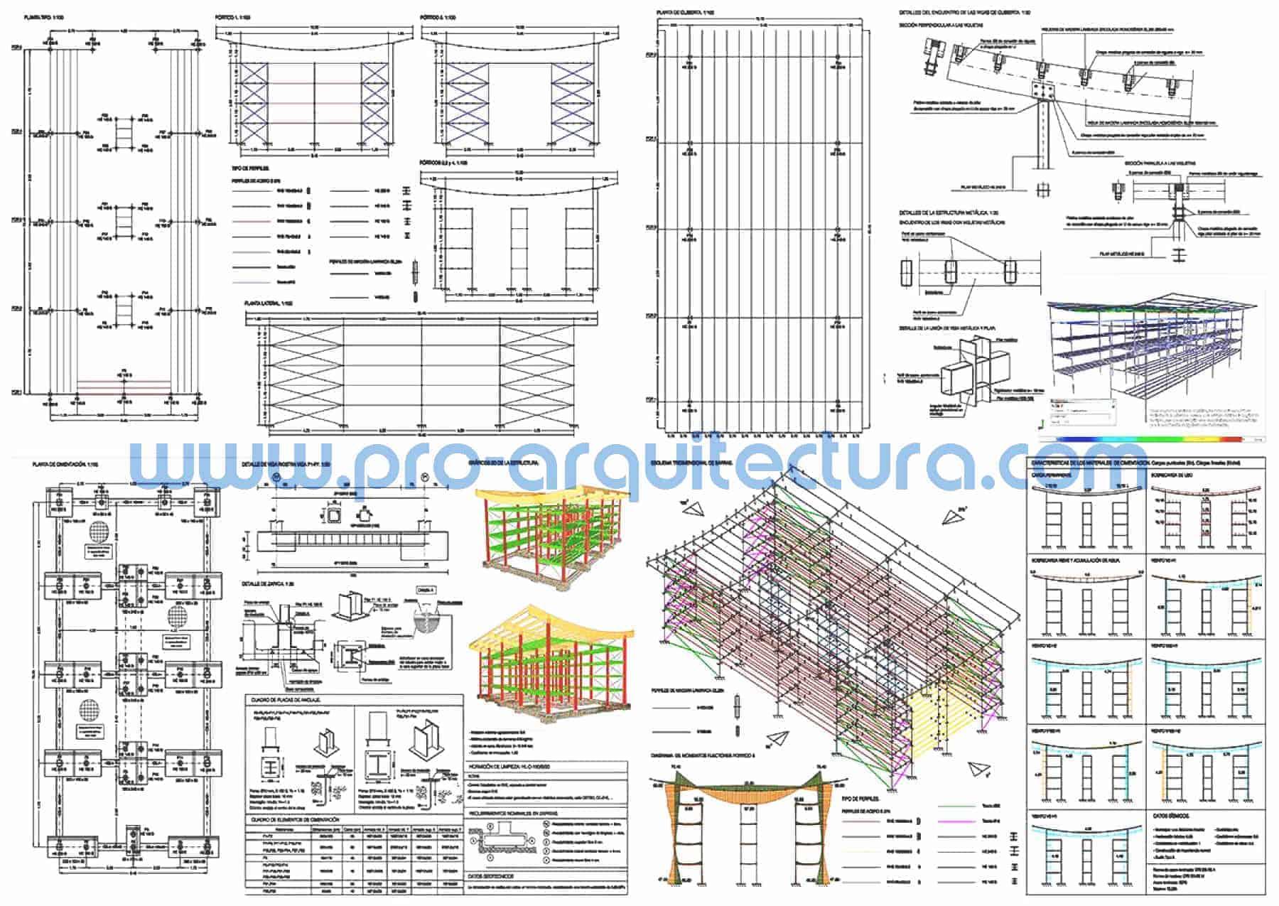 0066-01 Edificio portuario - Marina seca - Planos de estructuras - Tu ayuda con la entrega de la estructura del pfc pfg tfg tfm de arquitectura.