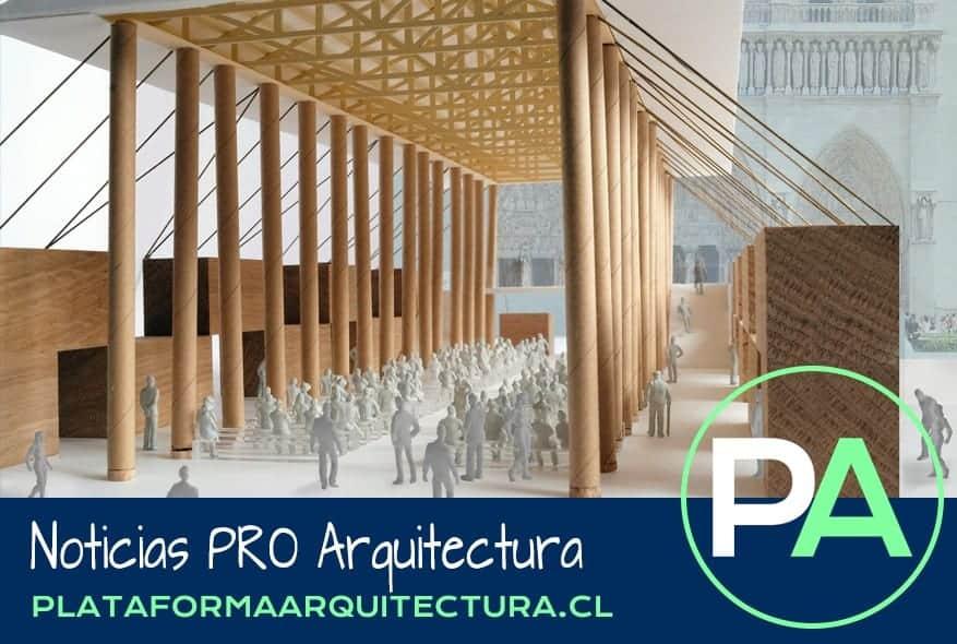 Noticias PRO Arquitectura. Pabellón temporal Notre-Dame, Shigeru Ban.