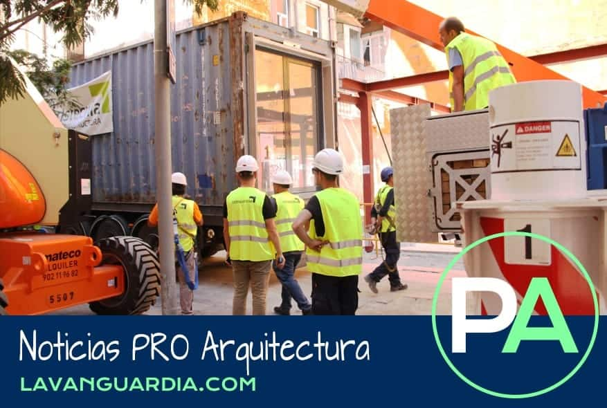 Noticias PRO Arquitectura. Construcción de pisos con contenedores.