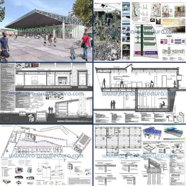 Te ofrecemos ayuda con los planos del proyecto básico, estructuras, instalaciones y detalles constructivos del PFC PFG TFG TFM de arquitectura.