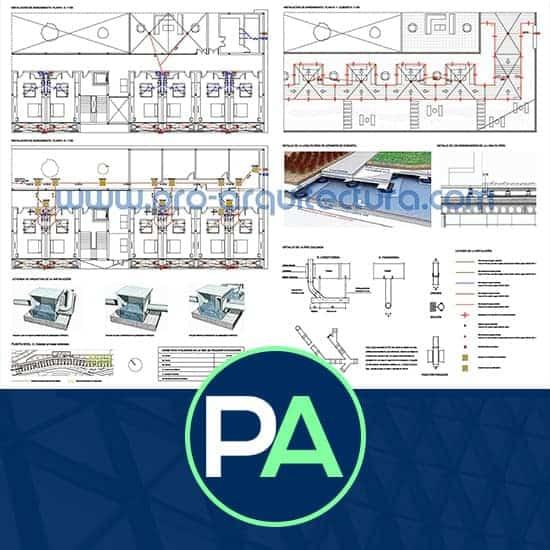PRO Arquitectura - Ayuda con la instalación de saneamiento, evacuación de aguas del PFC PFG TFG TFM.